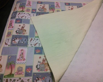 Handmade Flannel Baby Quilt