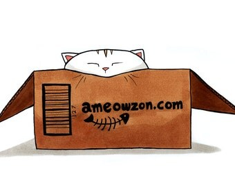 "Ameowzon Kitty Print 4x6"" Cat Art for Nerds Geeks and Gamers"