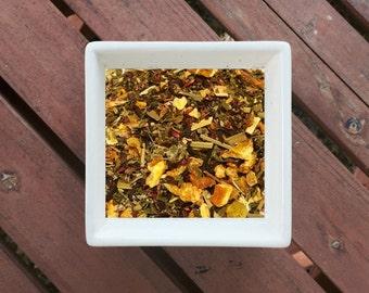 Tickle Me Pink Punch - Organic Tea, Loose Leaf Tea, Kid Friendly, Chamomile, Spearmint, Lemongrass, Hibiscus, Raspberry Leaf, Orange, Lemon