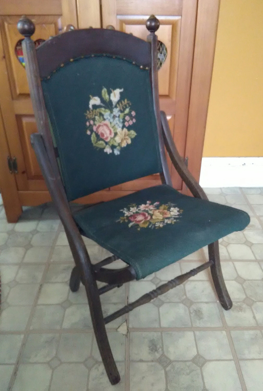 1800 S Victorian Tapestry Chair Victorian Chair Folding