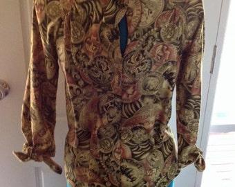 original 40s pattern, polished vintage cotton, size 12