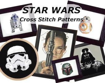 Cross Stitch Patterns Star Wars 6 Patterns For Fifteen Dollars ~ PDF Downloads