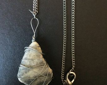 Wire Rock Necklace