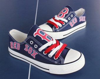 Boston Red Sox shoes red sox tennis shoes Fashionable canvas sneakers shoes