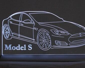 Tesla Model S  LED sign Lamp