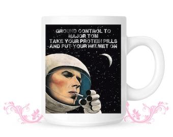David Bowie Mug Ground Control Major Tom