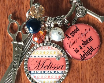 HAIR STYLIST Gift, Cosmetology Gifts, Hair Dresser Gifts, Hair Stylist Charm, Hair Stylist Jewelry, Cosmetology Jewelry, Hair Dresser Gift
