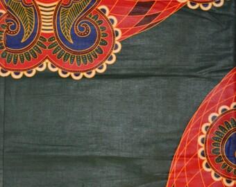 Dark Green Java Wax Prints African Ankara Fabric Per Yard