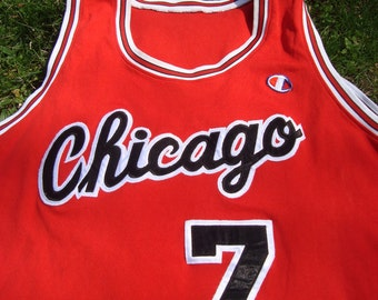 Champion NBA Jersey Chicago Bulls Number 7 Merced Bulls Tank Top Vintage NBA