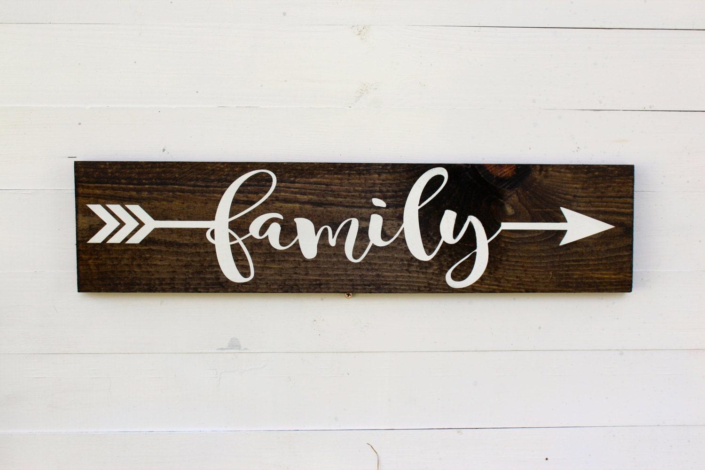 Family Arrow Rustic Si...