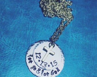 Salvation Necklace - Christian Necklace for Salvation Date with Cross
