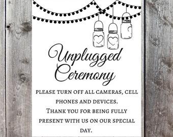Unplugged Wedding Printable, No Cell Phones, No Cameras, Wedding Print, Wedding Decor, Unplugged Wedding, Wedding Printable