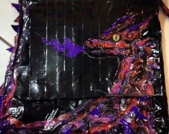 Duct Tape Dragon Messenger Tote
