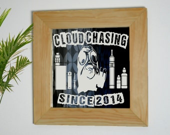 Vape Mirror, Vape Gift, Etched Vaporizer, Vaping Mirror, Cloud Chasing, Vape Sign, Vape Shop, Vaporizer Mirror, Laser Etched Mirror