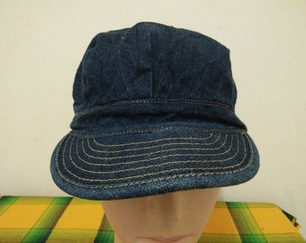 Rare Vintage EVISU YAMANE Jeans Cap Hat Free size fit all Made In Japan