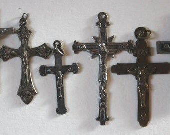 Vintage rosaries and crucifixes