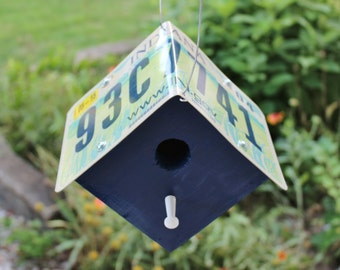 Indiana License Plate Birdhouse