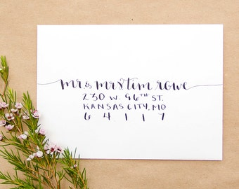 Custom Calligraphy Envelope Addressing | Hand Lettered Wedding + Event Envelopes | Wanderer