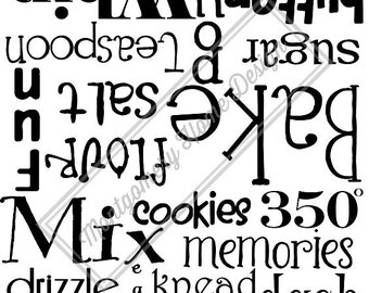 Kitchen Aid Mixer Decal
