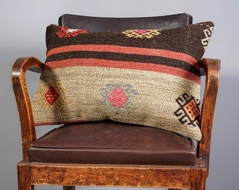 PAYPAL PAYMENT, Turkish kilim pillow, Decorative pillow, Vintage home decor, Cushion cover, Boho pillow, rug pillow, 16x24 inches, 40x60 cm
