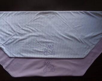 Mini Lavender Flower Baby Blanket
