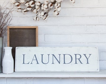 Laundry sign | wood sign | rustic wood sign | wall decor | 24