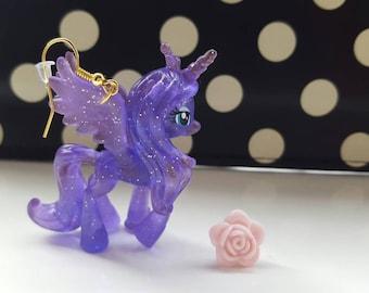 Princess Luna Transparent My Little Pony Dangle Earrings