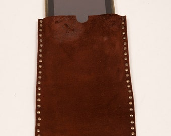 Brown distressed leather sleeve for Samsung 8.0 8.4 and Ipad mini 2 and 4 leather tablet case