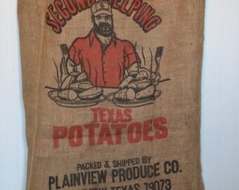 Second Helping Texas Potatoes Burlap Sack