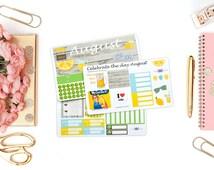 SALE!!! August Monthly kit / Erin Condren Monthly