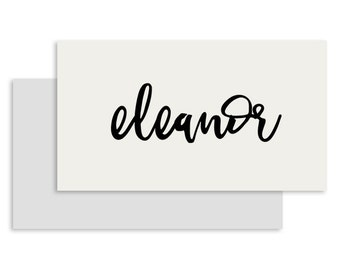 White Wedding Place Card Flat | DIGITAL FILE | Mischief | Printable DIY Wedding Invite, Wedding Reception, Name Card - Set of 10