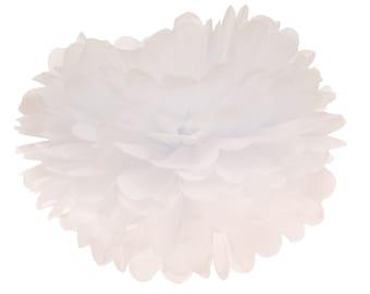 Pom Pom, Tissue Paper Pom Pom Ball, Tissue Paper Pompoms, White Pom Poms, Wedding Backdrop Engagement Party Hanging Poms Bridal Shower Decor