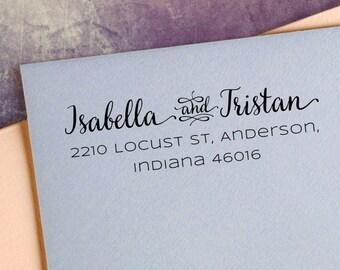 Custom address stamp, Personalized stamp,  pre-inked stamp, address stamp, Return address stamp - TYPE 42