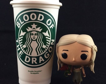 "Game of Thrones inspired ""Blood of the Dragon"" Starbucks Travel Cup"