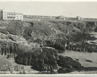 The Cliff Hotel Gwbert on Sea Cardigan WALES 1963 Postcard Post Card