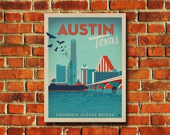 Austin Texas Poster - #0523