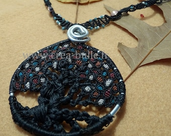 Tree of life necklace woven