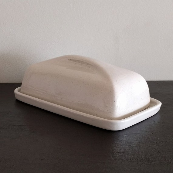 Ceramic Butter Dish With Lid French Handcrafted