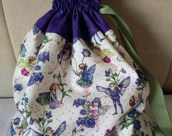 Fairy, LARGE drawstring Project Bag