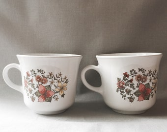 Floral Tea Cup Set // Floral Mug Set // Floral Kitchen // Floral Home Decor // Vintage Kitchen Decor // Tea Cup Set (B5)