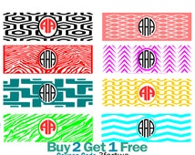 Monogram Wraps SVG, Studio 3, DXF, EPS and png Beach Spike wrap, Iphone svg wrap Cutting Files, Silhouette Studio, Cricut Design space