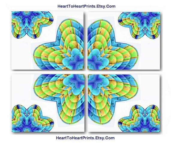 Beach house decor lime aqua floral art by hearttoheartprints for Beach house designs florist