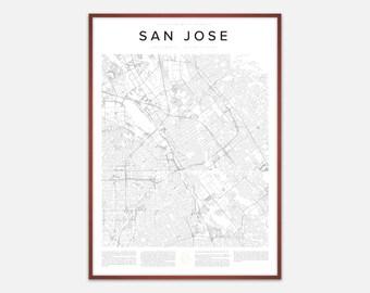 San Jose Map Print