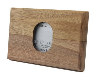 Exclusive wallet made of solid wood. For credit cards and business cards | Unisex