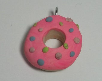 Cotton Candy Donut Charm