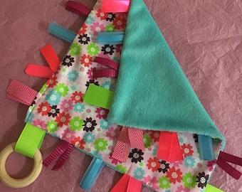 Sensory blanket/ tag blanket