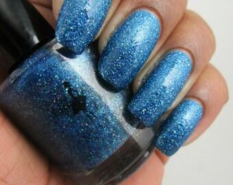 Blue nail polish   Etsy