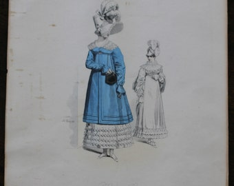SPRING CLEANING SALE! Original Pauquet Bros. French Costume Illustration- Rare