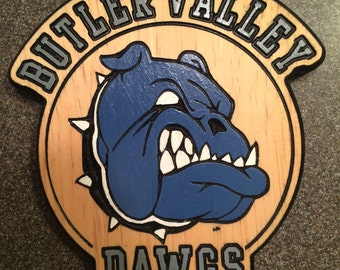 Butler Valley Dawgs Hockey Sign