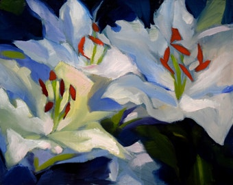 Lily Oil Painting III